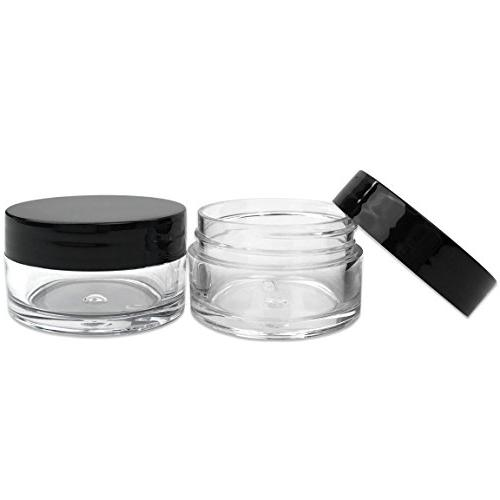 Beauticom Piece 20g/20ml USA Acrylic Clear Jars with Lip Balms, Up, and