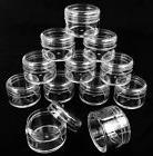 12Pcs Empty Jars Small Plastic Round Clear Containers 20ml F