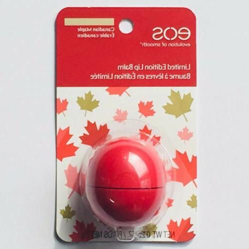 Eos Lip Balm Canadian Maple Syrup 0 25oz 7g Limited