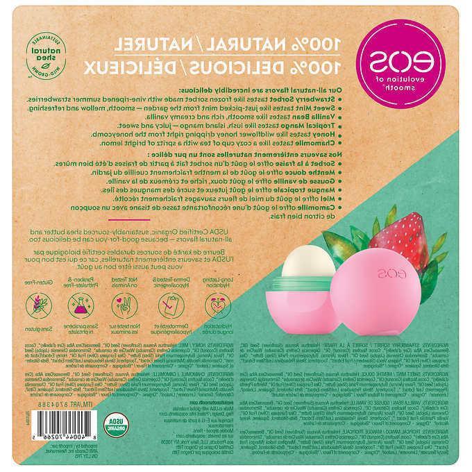EOS 100% Natural USDA Lip 6-pack