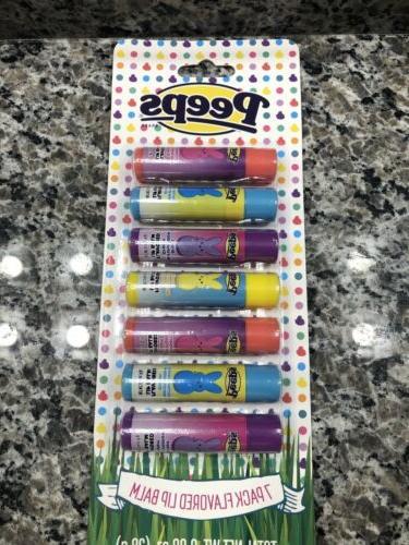 flavored 7 pack lip balm nip