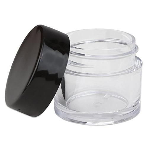 Beauticom Grams/7 Thick Crystal Clear Jars Container with Lids Balm, Lotions, Liquids