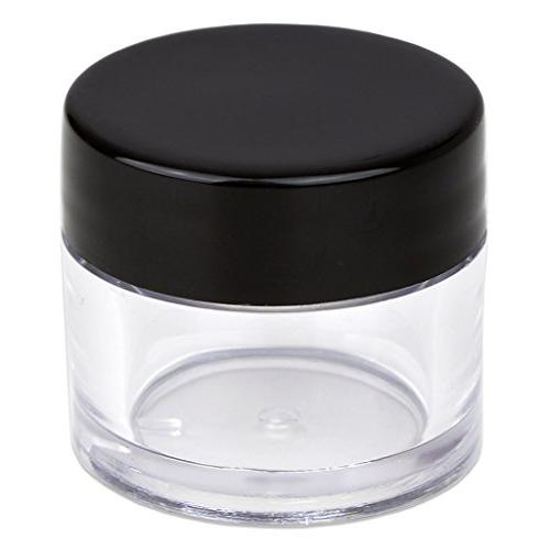 Beauticom High-Graded Grams/7 Thick Wall Crystal Clear Jars with Lids for Lip Balm, Lip Lotions,