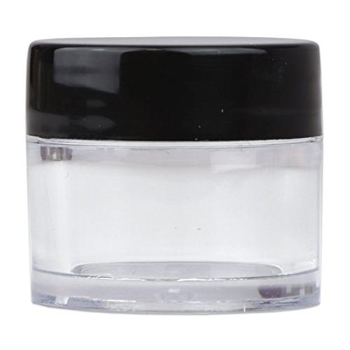 Beauticom 7 Grams/7 ML Thick Crystal Jars with Lids for Balm, Lotions,