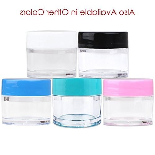 Beauticom High-Graded Quality Grams/7 ML Thick Crystal Clear Jars Container Lids Cosmetic, Balm, Lip Creams, Lotions,