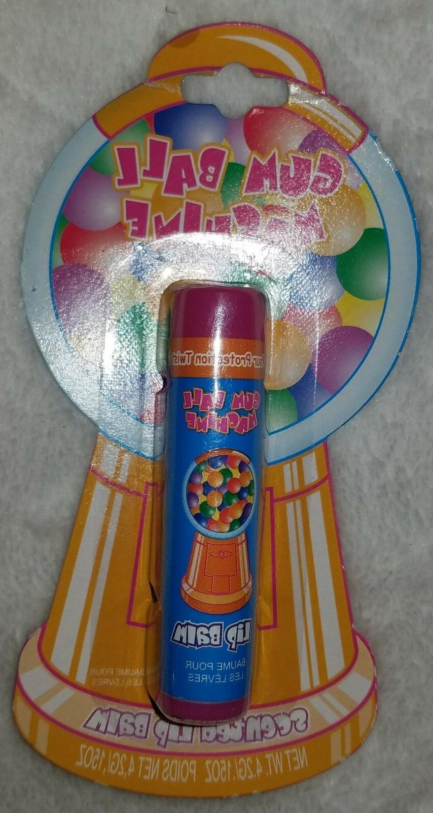 gum ball machine scented lip balm rare