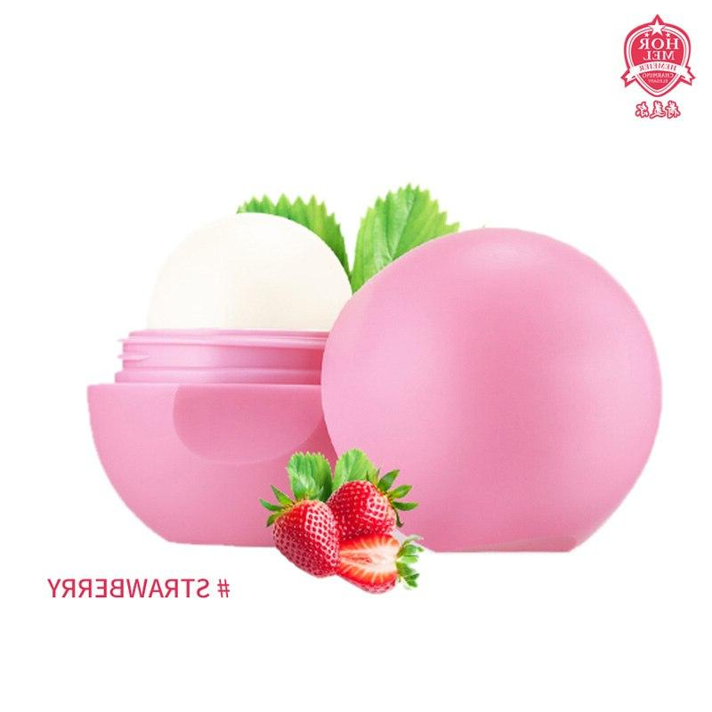 2Pcs Ball <font><b>Lip</b></font> Moisturizing <font><b>Shea</b></font> <font><b>Butter</b></font> Strawberry Lipstic Protector Cosmetic