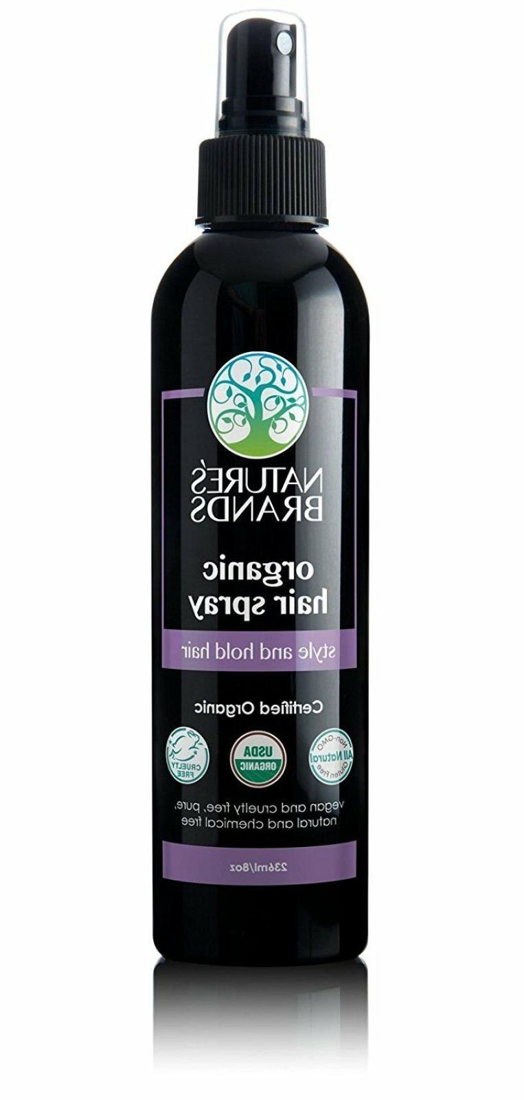 Herbal Choice Mari Organic Hair Spray 236ml/8oz Spray Bottle
