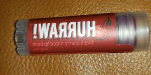 hurraw lip balm black cherry tinted