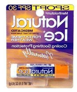 Mentholatum Natural Ice Sunscreen/Lip Protectant SPF 30 Spor