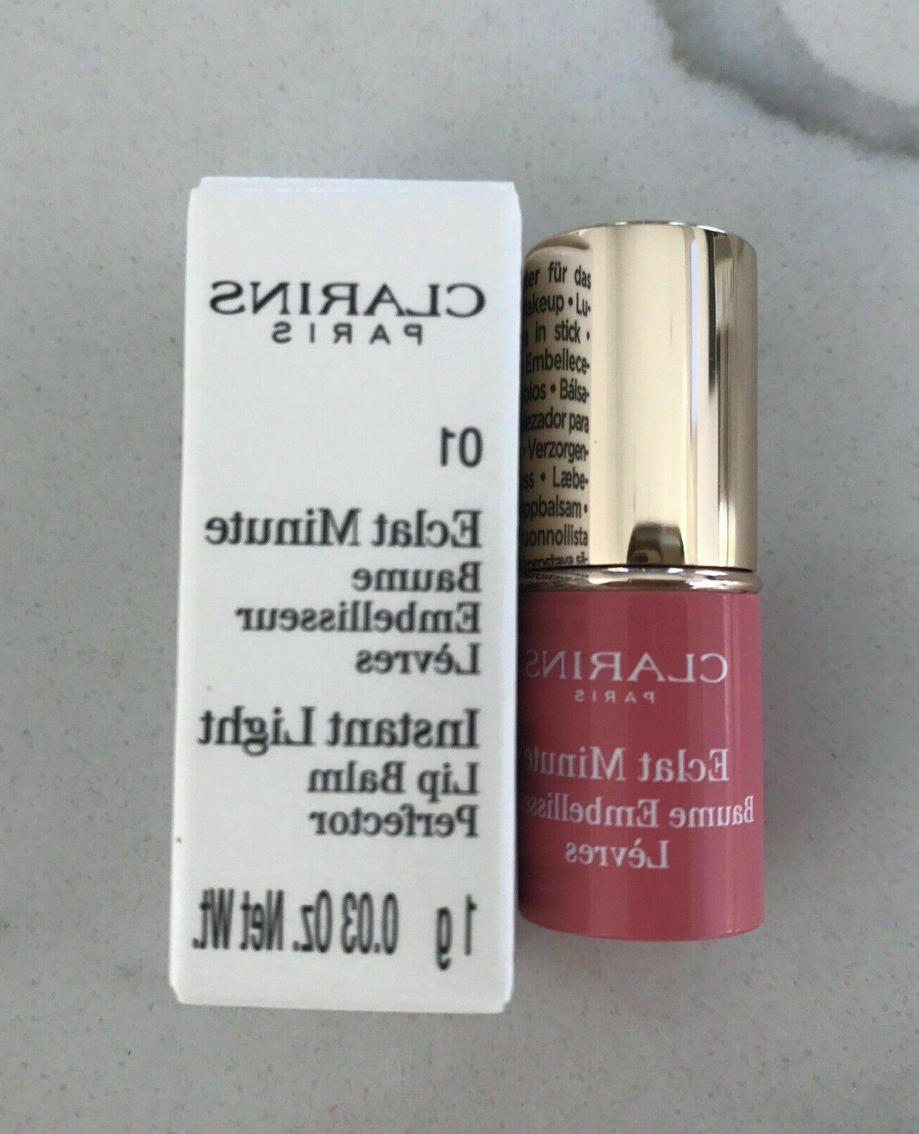 CLARINS lip balm perfector rose sample set LOT