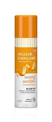 Avalon Organics Intense Defense Lip Balm, 0.25 oz.