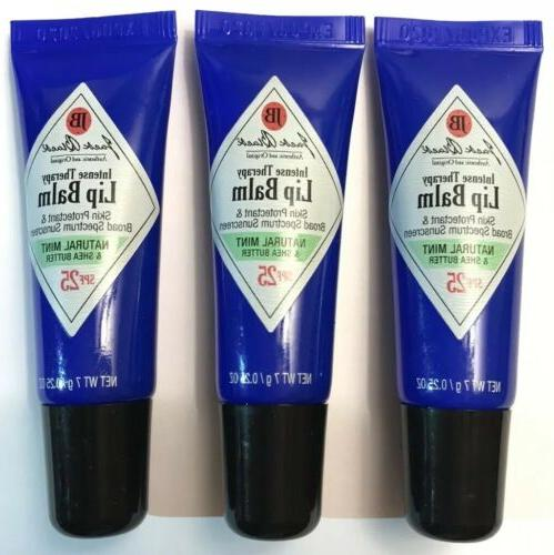 intense therapy lip balm natural mint shea
