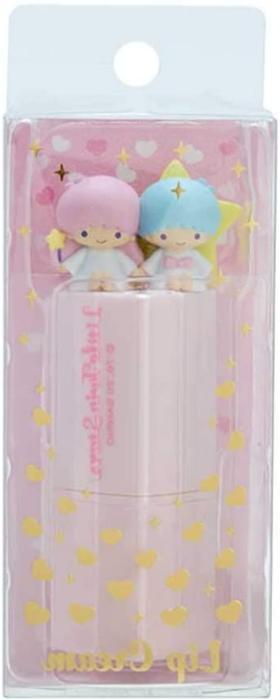 JAPAN Sanrio Stars Heart Shape Cream Lip Balm Lipstick Rose 3g