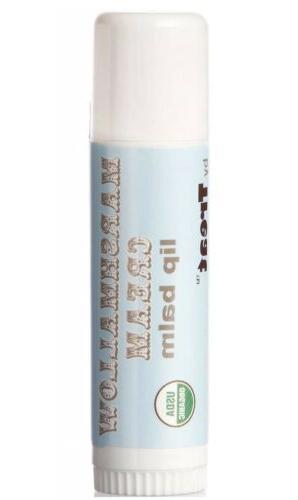 TREAT Jumbo Lip Balm Marshmallow Cream Organic & Cruelty Fre