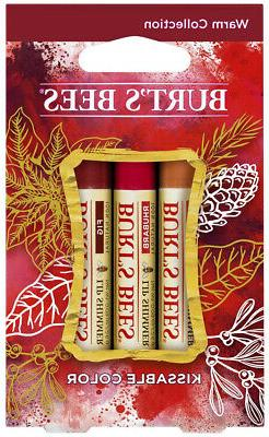 Burt's Bees Kissable Color  Warm Holiday Gift Set