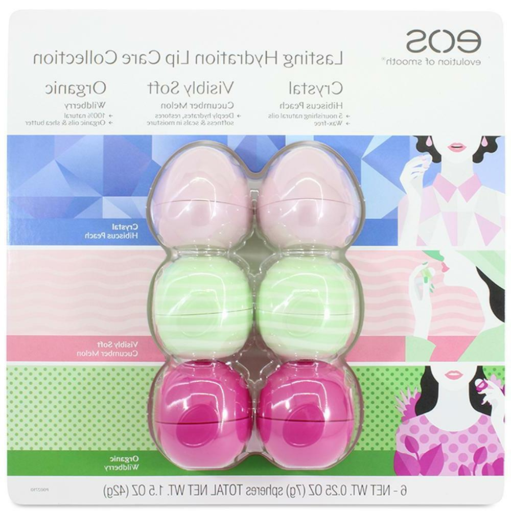 EOS Lasting Lip Balm Collection 6 + USA NEW