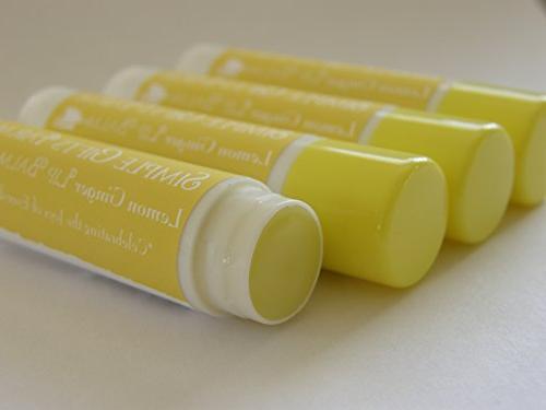 lemon ginger lip balm