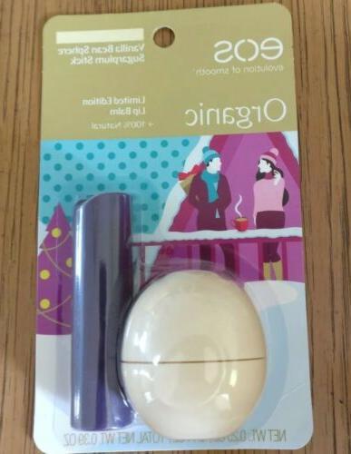 EOS Limited Edition Lip Balm Vanilla Bean Sphere / Sugar Plu
