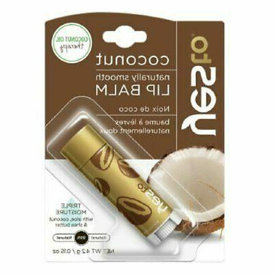 Yes Lip 2Pk Tube oz Natural Fruit Coconut Beeswax,