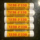 LIP BALM LOT OF 5  BEE'S BEST BEESWAX  SEALED PEPPERMINT 100