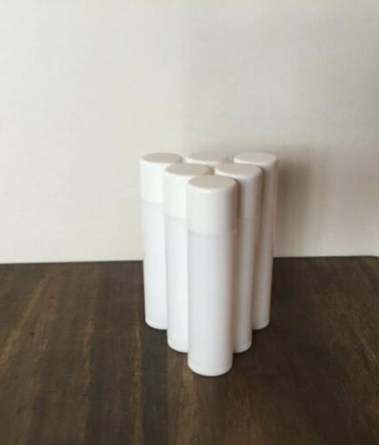 LIP BALM Free White Plastic Containers Bands