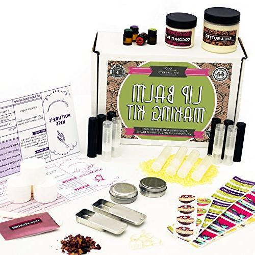 DIY Lip Balm Kit,  Homemade, Natural and Organic | Includes