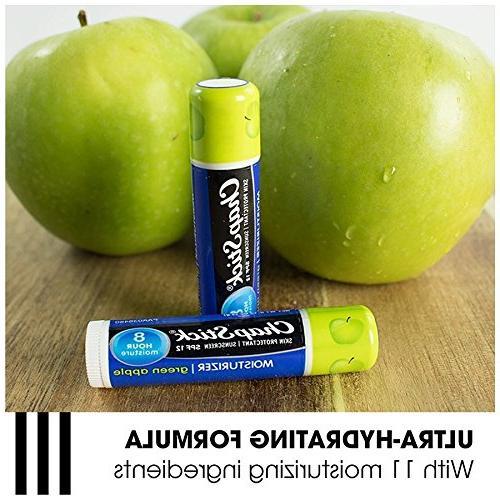 ChapStick Skin Green Flavor Lip Balm Sunscreen, 12