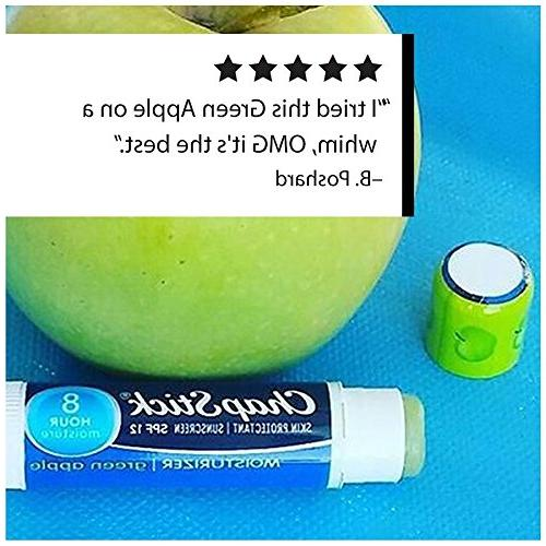 ChapStick Moisturizer Skin Protectant Apple Flavor Balm Sunscreen, Count, of