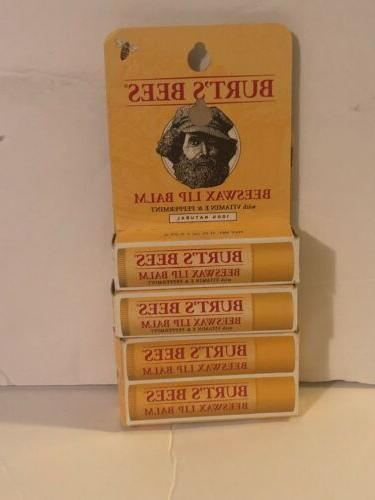 lot of 4 burt s bees lip