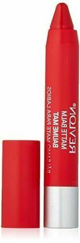 Revlon Matte lip Balm crayon, # 240 striking, 0.095 oz brand