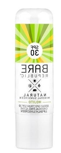 Bare Republic Natural Mineral Lip Balm Sunscreen SPF 30