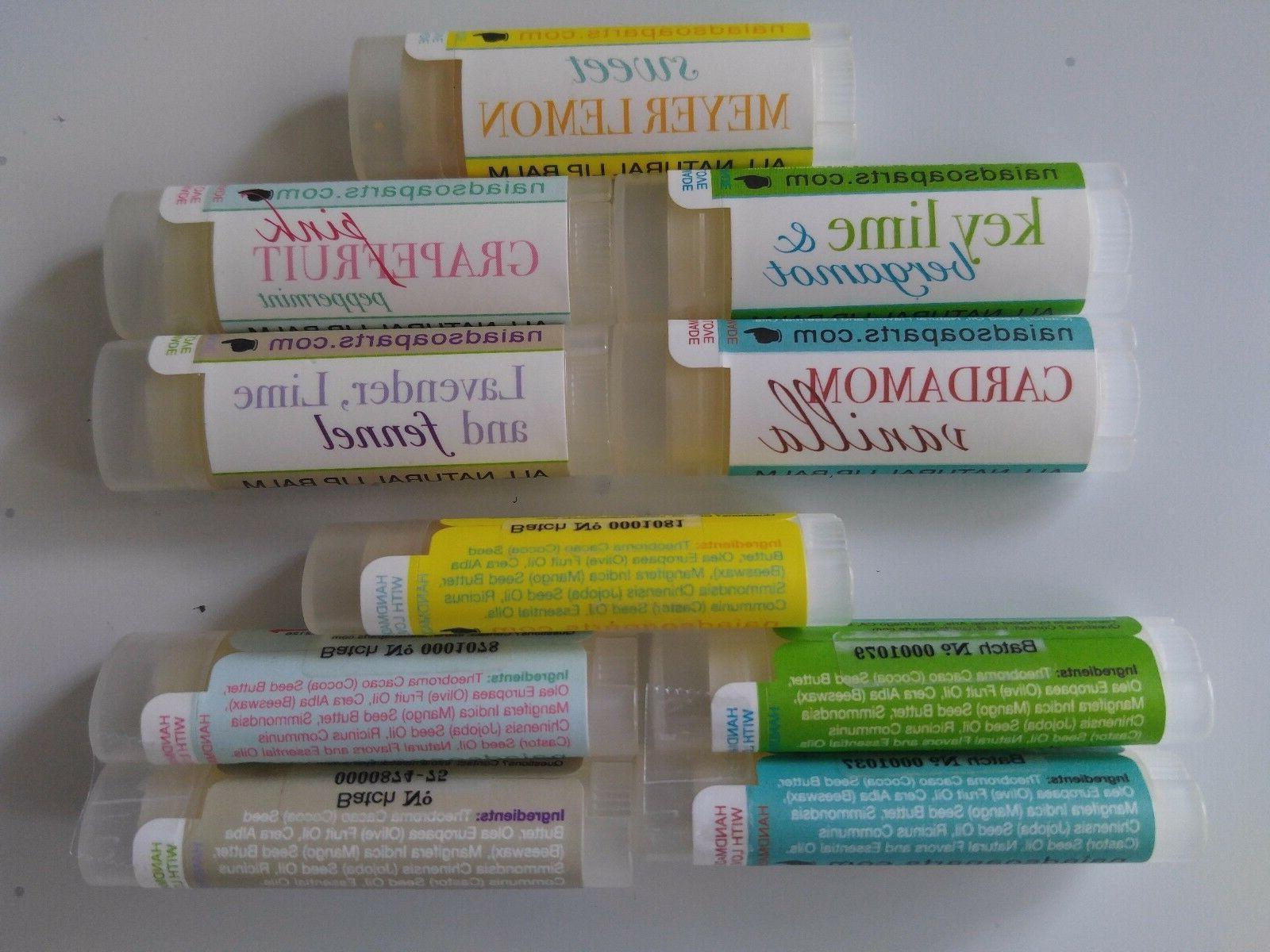 Naiad Homemade Flavored Lip Balm Conditioners  - .15oz