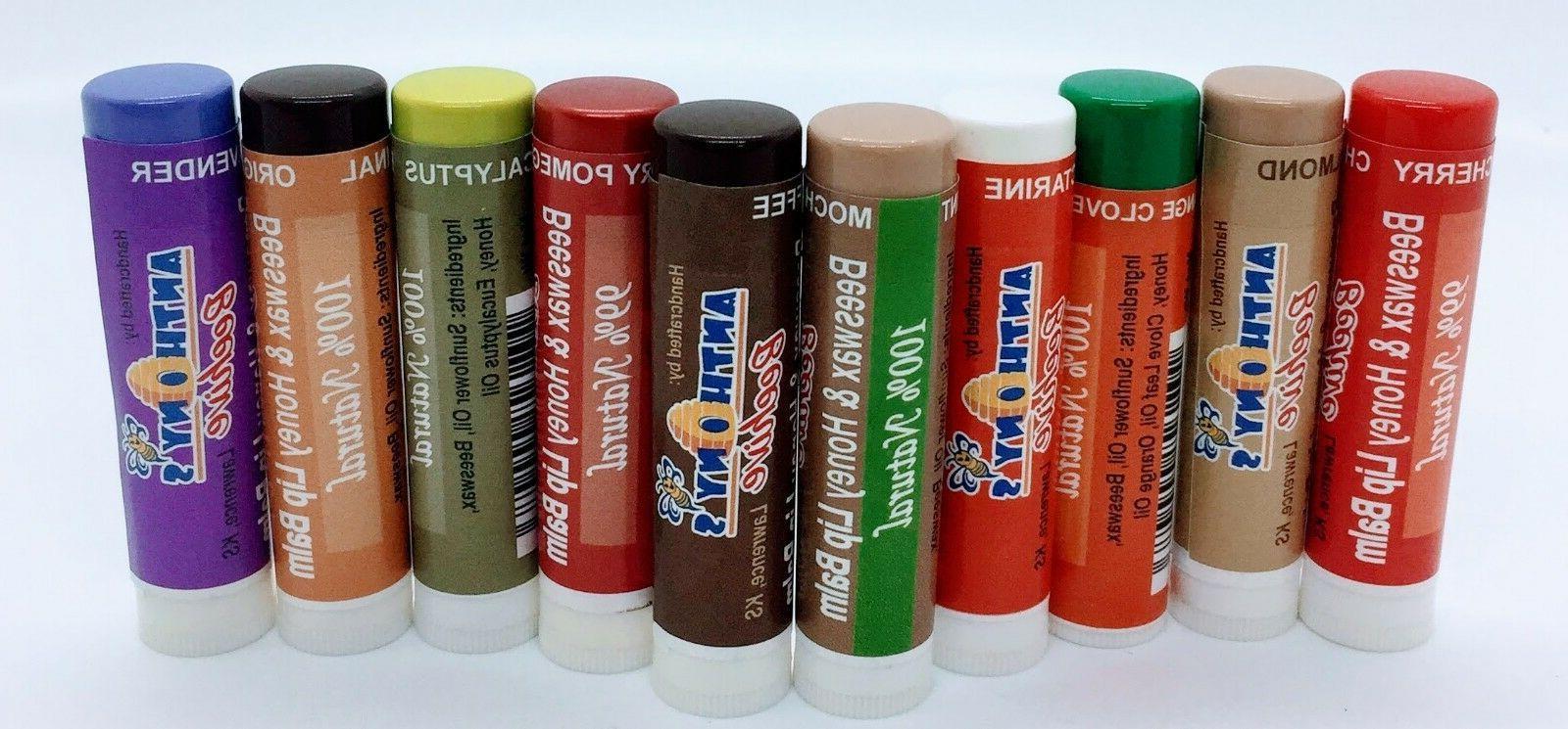 natural beeswax and honey lip balm tube