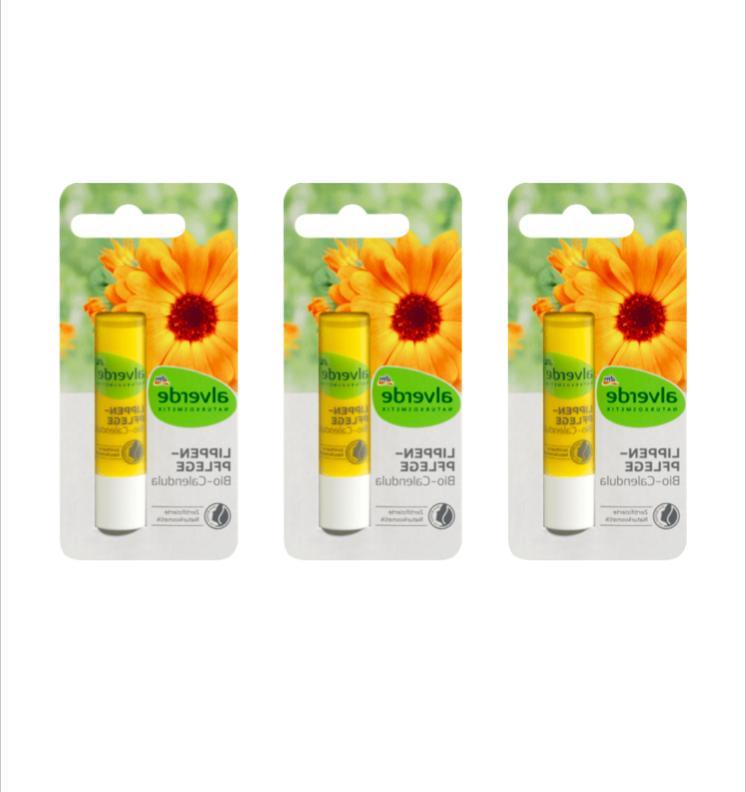 nature cosmetics lip balm organic calendula 3pc