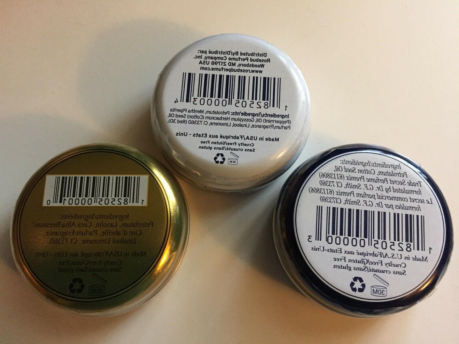 New and Sealed Rosebud Perfume Three Layers Balm