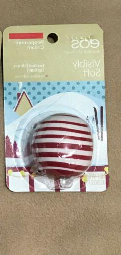 New Eos Limited Edition Holiday Visibly Soft Peppermint Crea