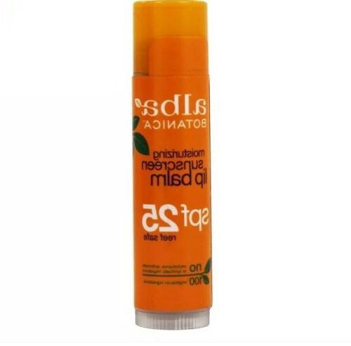 new moisturizing sunscreen lip balm 25 spf