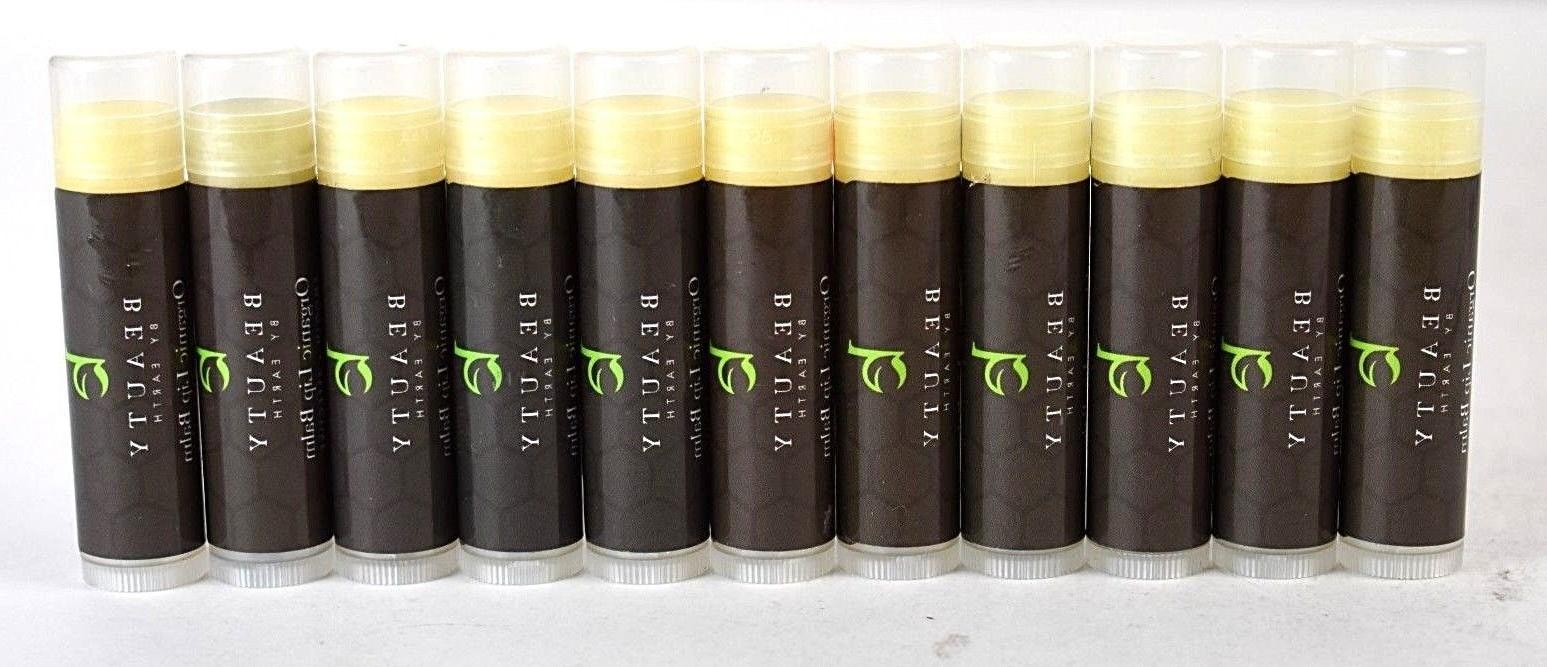 NEW Beauty by Earth Organic Lip Balm oz Scents Bundle of 11