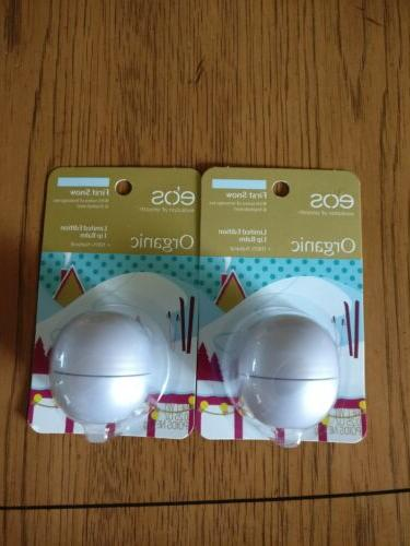 eos Organic First Snow Limited Edition Lip Balm Sphere - 0.2