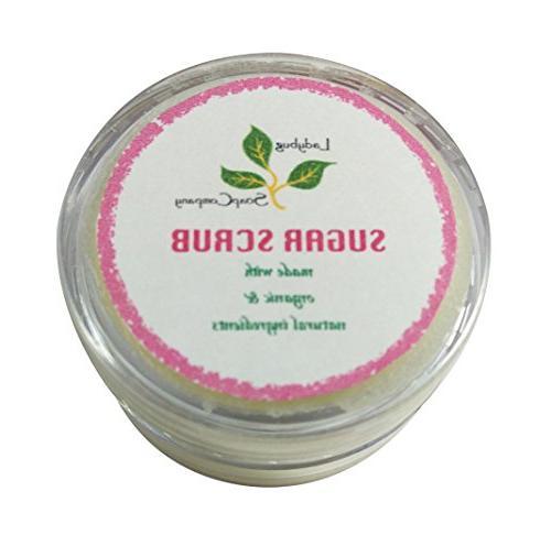 organic creamy moisturizing lip scrub