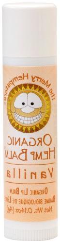 MERRY HEMPSTERS Lip Balm Vanilla, 0.14 Ounce