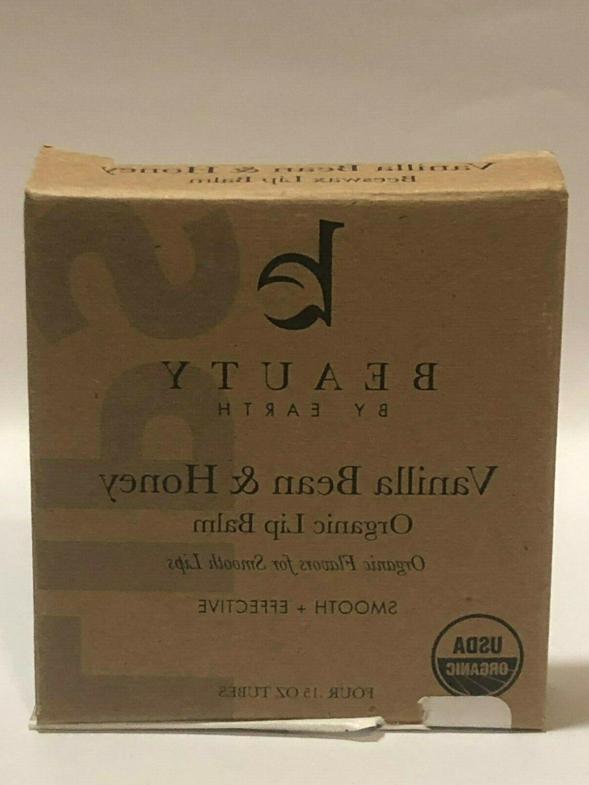 Beauty by Earth Organic Lip Balm 4 .15 oz tubes Vanilla Bean