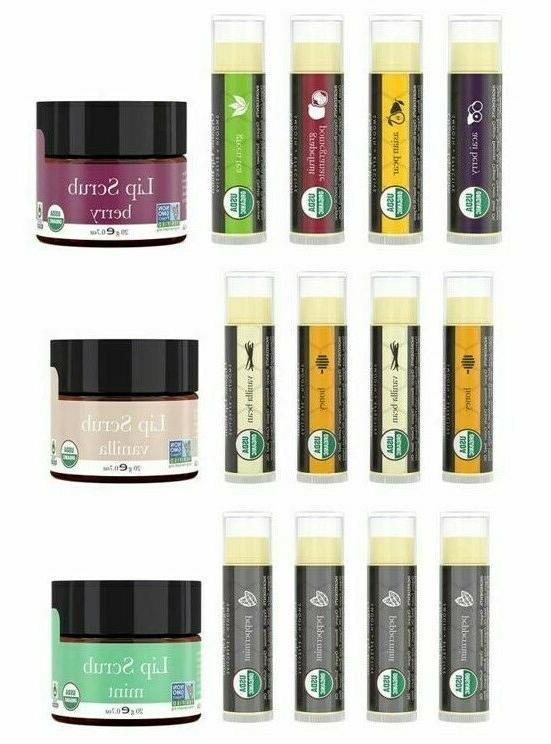 organic lip balm and scrub bundle 4