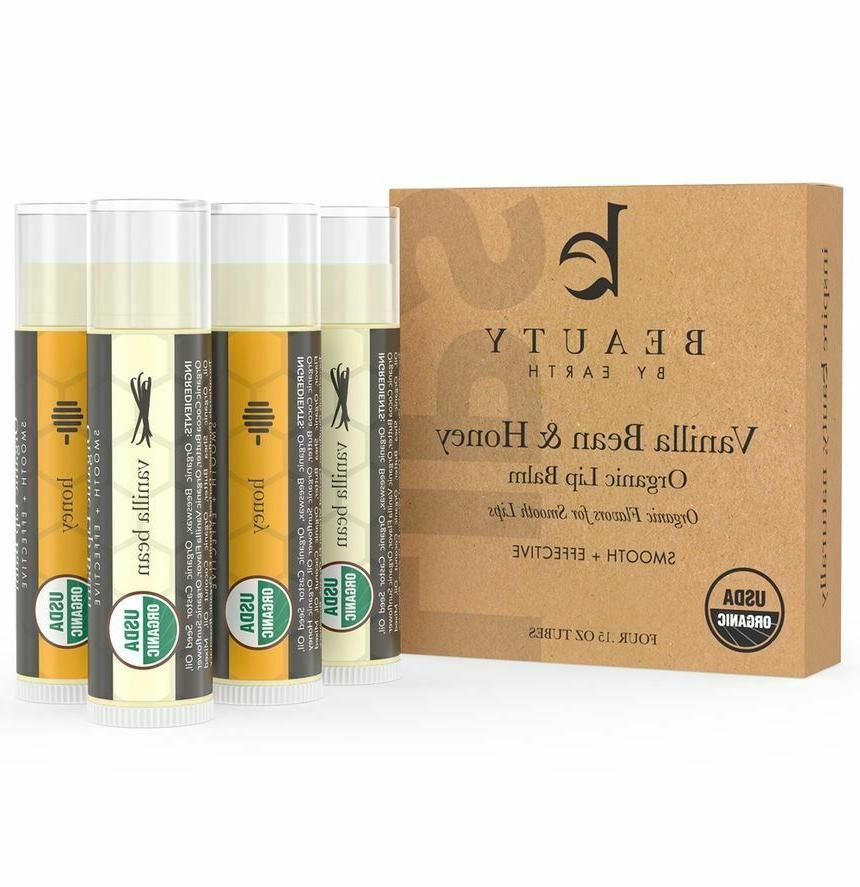organic lip balm vanilla bean and honey