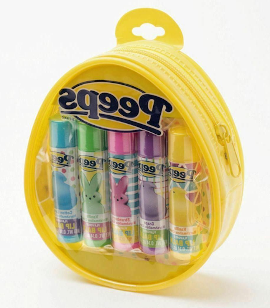 peeps lip balm 5 pack in marshmallow