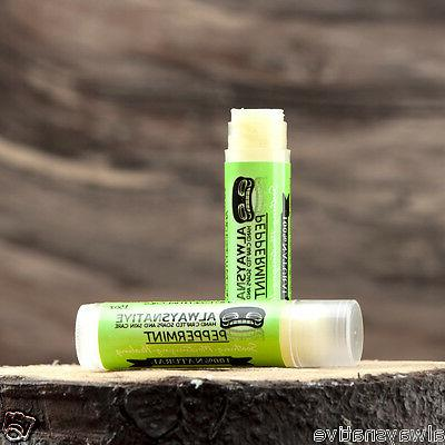 peppermint 100 percent natural lip balm beeswax