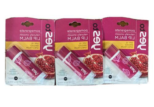 pomegranate triple moisture lip balm 3 pack