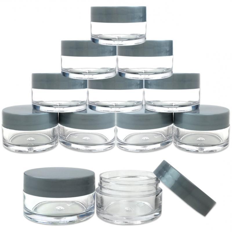 round clear jars