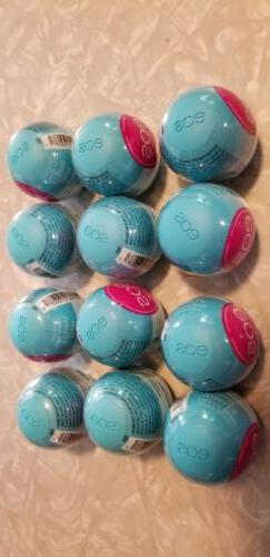 EOS Shea Lip Balm Vanilla Mint  Lot Of 12 New Sealed Healthy